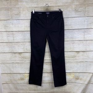 NYDJ Marilyn Straight Leg Stretchy Black Jeans 12